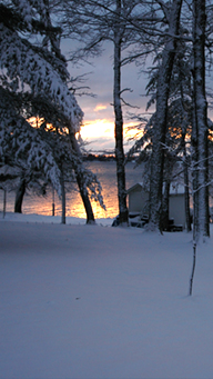Winter on Pelican Lake